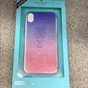 kate spade iPhone XR glitter ombré phone case.